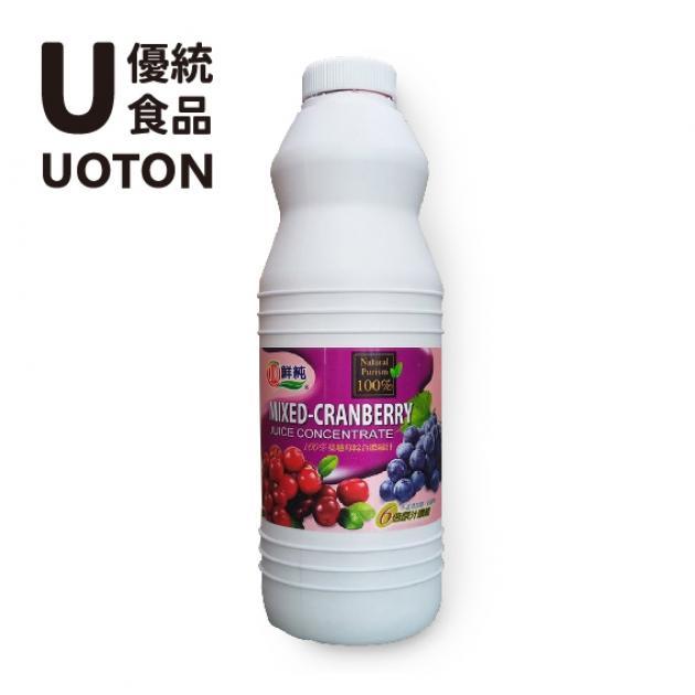 【綠盟】 百分之百蔓越莓綜合果汁 1.2kg / 瓶 1